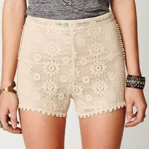 Women's Free People Crochet Lace Floral Shorts